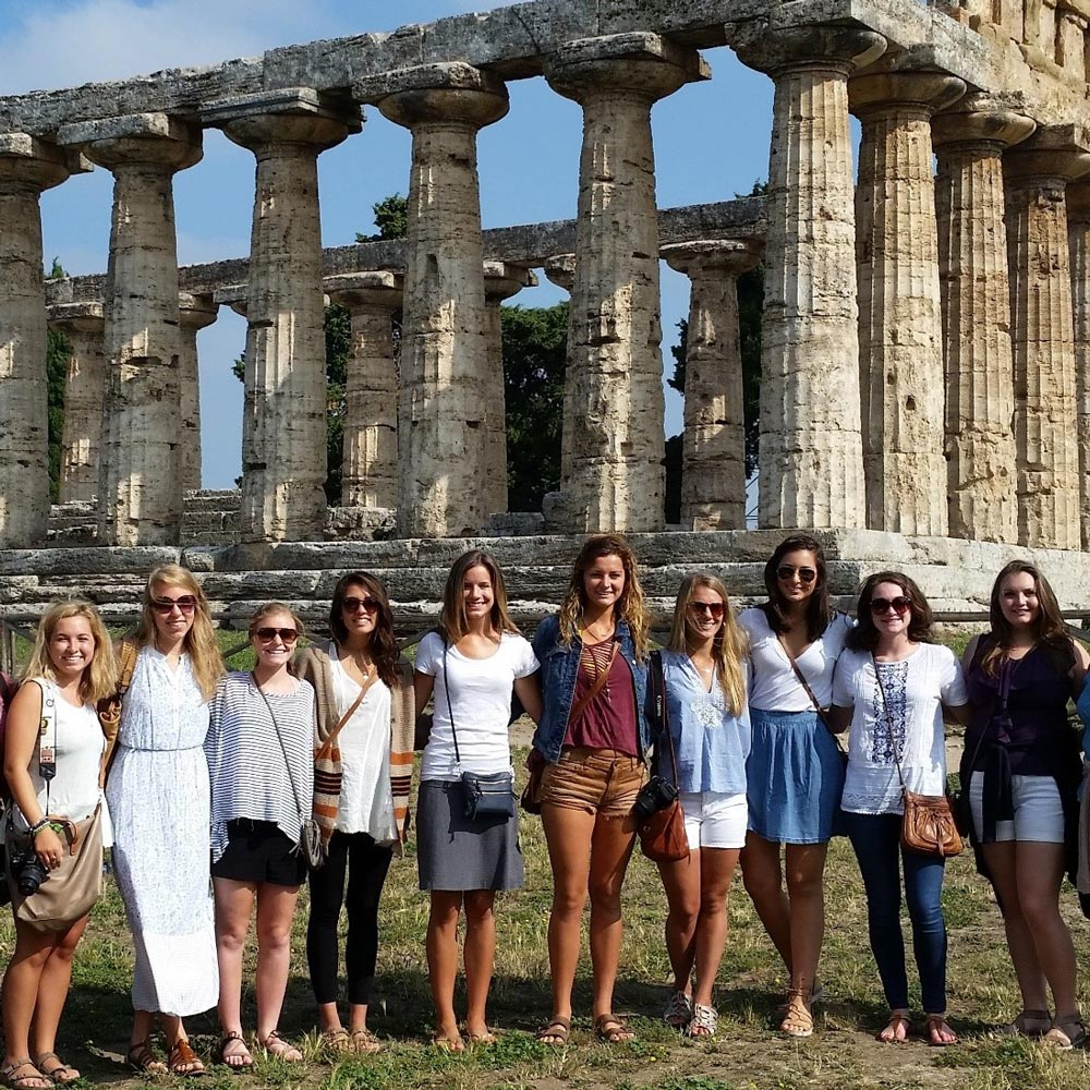 Photos AU students studying abroad in rome.